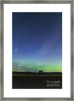 Fireball Two Over The Farm Framed Print