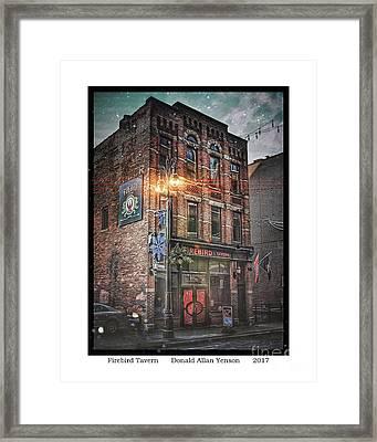 Firebird Tavern Framed Print by Donald Yenson