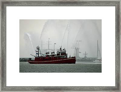 Fireboat Display Framed Print