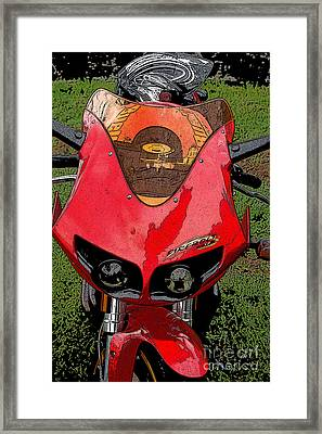Firebolt Framed Print by Diane E Berry