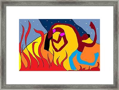Firedance Framed Print
