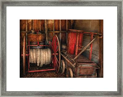 Firefighter - Fire Bridgade Framed Print by Mike Savad