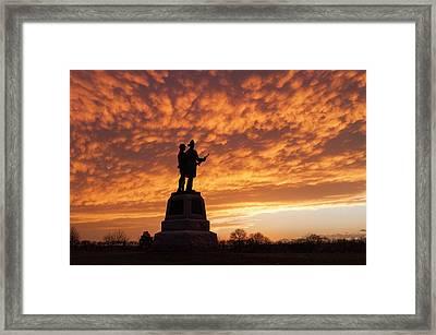 Firefighters On The Battlefield Framed Print by Kat Zalewski-Bednarek