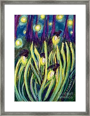 Fireflies Framed Print by D Renee Wilson