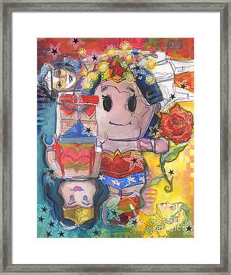 Fireflies Heal Superpowers Framed Print