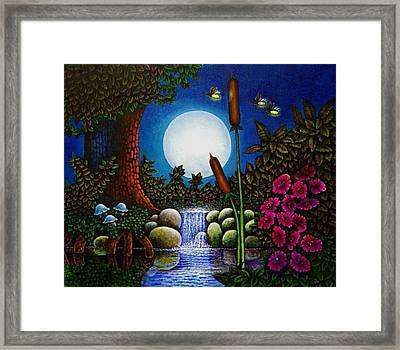 Framed Print featuring the painting Fireflies by Michael Frank