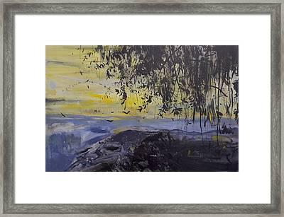 Fireflies Nocturne Framed Print by Calum McClure