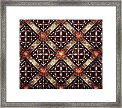 Fireflies - Pattern -fractal Framed Print by Anastasiya Malakhova
