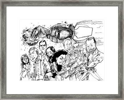 Firefly Framed Print by Big Mike Roate
