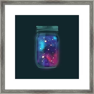 Firefly Galaxy Framed Print by Katie Swick