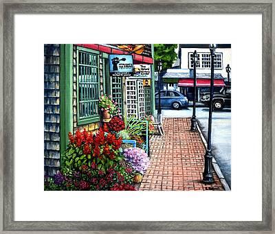 Firefly Lane Bar Harbor Maine Framed Print by Eileen Patten Oliver