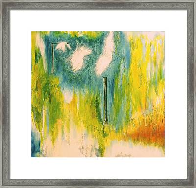 Firefly Framed Print by Martine Letoile