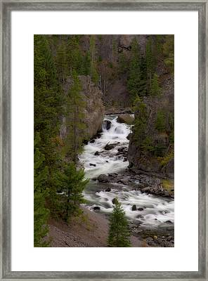Framed Print featuring the photograph Firehole Canyon by Steve Stuller