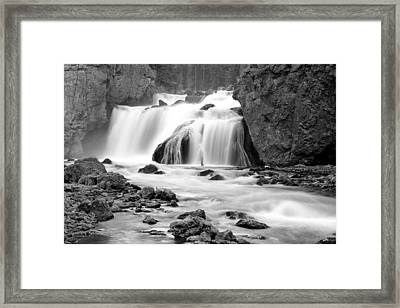Firehole Falls Framed Print by Eric Foltz