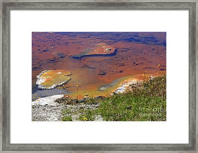 Firehole Lake Yellowstone National Park Framed Print by Louise Heusinkveld