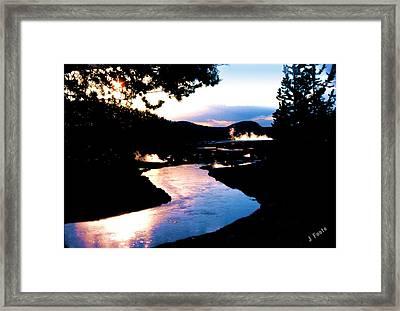 Firehole River Framed Print