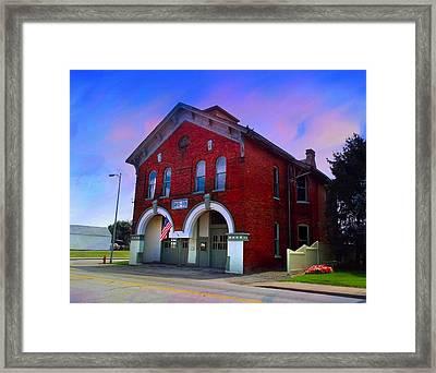 Firehouse No 10 Framed Print by Julie Dant