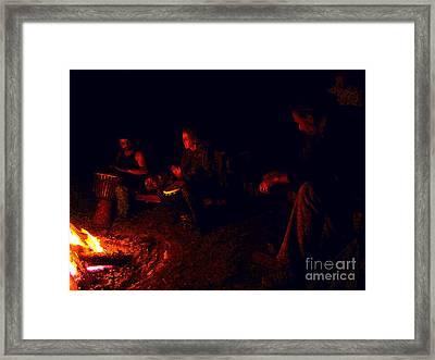 Firelight Drumming Framed Print by JoAnn SkyWatcher