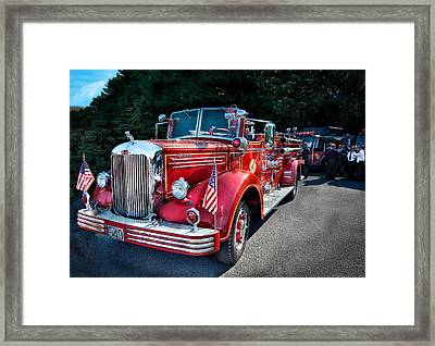 Fireman - 1949 And It Still Runs  Framed Print by Mike Savad