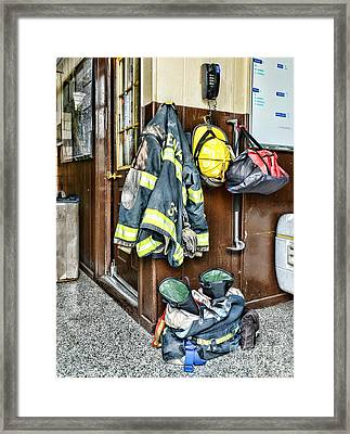 Fireman - Always Ready Framed Print by Paul Ward