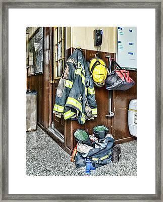 Fireman - Always Ready Framed Print by Paul Ward
