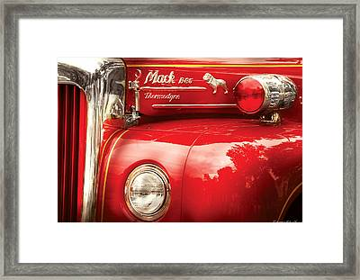 Fireman - An Old Fire Truck Framed Print by Mike Savad
