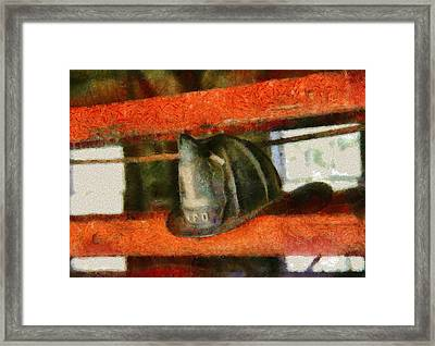 Fireman - Chief Hat Framed Print by Mike Savad