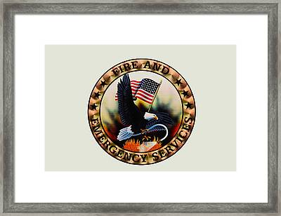Fireman - Fire And Emergency Services Seal Framed Print