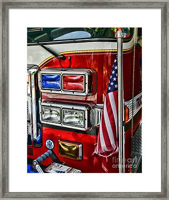 Fireman - Fire Truck Framed Print by Paul Ward