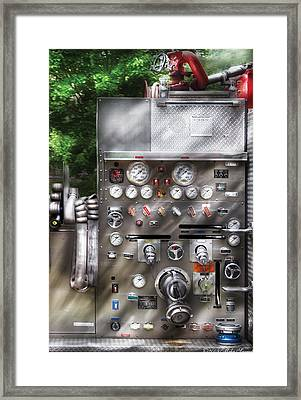 Fireman - Fireman's Controls Framed Print by Mike Savad