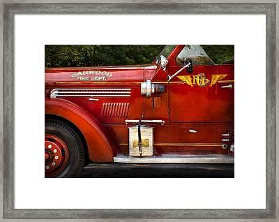 Fireman - Garwood Fire Dept Framed Print