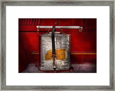 Fireman - Indian Pump  Framed Print by Mike Savad