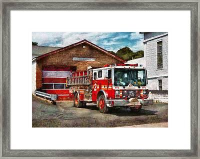 Fireman - Union Fire Company 1  Framed Print by Mike Savad
