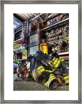 Fireman - Always Ready For Duty Framed Print