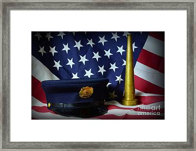 Fireman - American Hero Framed Print by Paul Ward