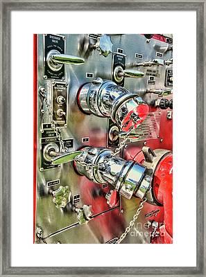 Fireman Chrome Control Panel Framed Print