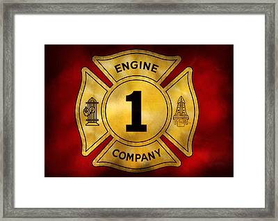 Fireman - Engine Company 1 Framed Print by Mike Savad