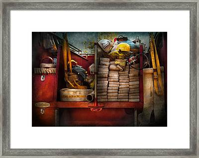 Fireman - Fire Equipment  Framed Print by Mike Savad