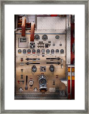 Fireman - For Guys Only  Framed Print by Mike Savad