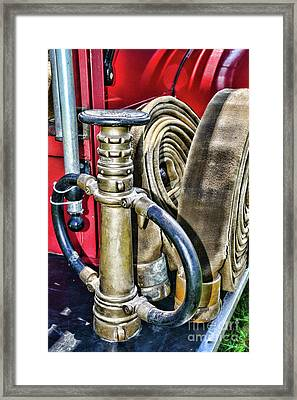 Fireman Its All About The Nozzle Framed Print