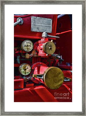 Fireman Its All About The Pressure Framed Print