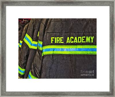 Fireman Jackets Framed Print by Skip Nall