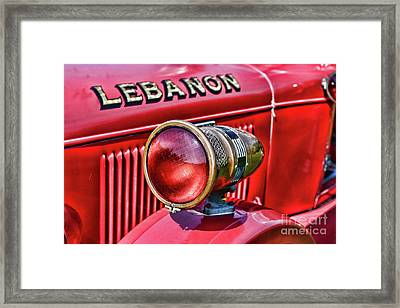 Fireman-lights And Sirens Framed Print