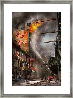 Fireman - New York Ny - Show Me A Sign 1916 Framed Print