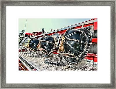 Fireman-nice Helmets Framed Print
