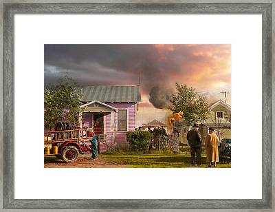 Fireman - Terry Montana - Volunteer Firefighters 1939 Framed Print by Mike Savad