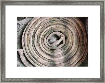 Fireman - The Firehose Framed Print