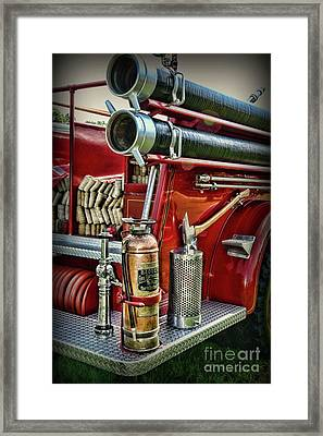 Fireman Things On The Truck  Framed Print