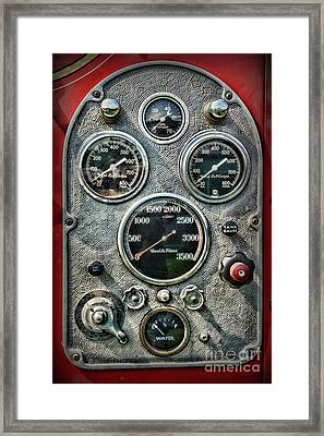 Fireman-vintage Control Panel Framed Print