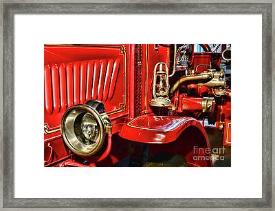 Fireman-vintage Fire Truck Framed Print by Paul Ward